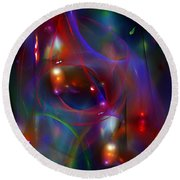 Christmas Abstract 112711 Round Beach Towel