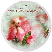 Christmas Card - Virginia Creeper In Autumn Colors Round Beach Towel