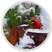 Christmas Guest Round Beach Towel