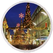 Christmas In Dublin, Henry Street At Round Beach Towel