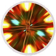 Christmas Light Abstract Round Beach Towel