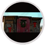 Christmas Out House The Perfect Gift For Those On The Go Round Beach Towel