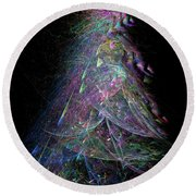 Christmas Tree 67 Round Beach Towel
