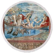 Christ:miraculous Draught Round Beach Towel