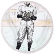 Christy Mathewson Round Beach Towel