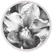 Chrome Flower Round Beach Towel