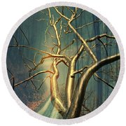 Chrome Forest Round Beach Towel