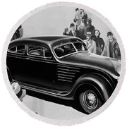 Chrysler Airflow Round Beach Towel