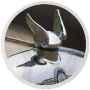 Chrysler Hood Ornament 2 Round Beach Towel