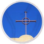Church Cross Round Beach Towel