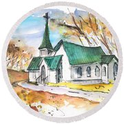 Church In Friars Point Mississippi Round Beach Towel