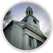 Church In Perspective Round Beach Towel