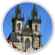 Church Of Our Lady Before Tyn Round Beach Towel