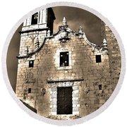 Church Of The Virgen De La Ermitana - Peniscola  Round Beach Towel