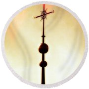 Church Spire Round Beach Towel