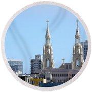 Church Top San Francisco Round Beach Towel