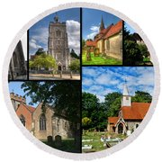 Churches Of Hillingdon Round Beach Towel