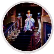 Cinderella Enters The Ball Round Beach Towel
