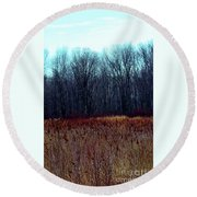 Cinnamon Fields Round Beach Towel