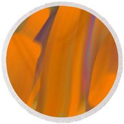 Cinnamon Forest Round Beach Towel