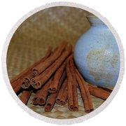 Cinnamon Jar Round Beach Towel