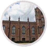 Circa 1818 Gothic 1st Presbyterian Church Huntsville Alabama Usa Round Beach Towel
