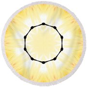 Circle Of Light Round Beach Towel