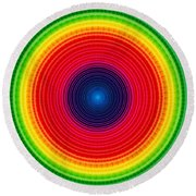 Circle X-ray Round Beach Towel