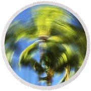 Circular Palm Blur Round Beach Towel