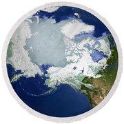 Circum-arctic Permafrost Round Beach Towel