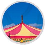 Circus Tent Top  Round Beach Towel