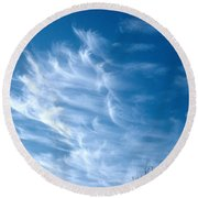 Cirrus Cloud Round Beach Towel