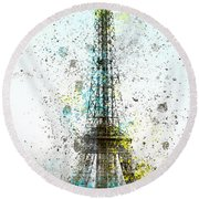 City-art Paris Eiffel Tower II Round Beach Towel