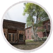 City Drug Store And Hotel Meade - Bannack Montana Ghost Town Round Beach Towel