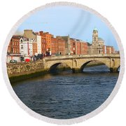 City Of Dublin Round Beach Towel