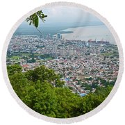 City Of Port Of Spain Trinidad 3 Round Beach Towel