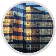 City Reflections 2 Round Beach Towel