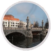 City Scenes From Amsterdam Round Beach Towel
