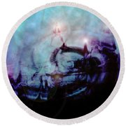 Cityscapes Round Beach Towel