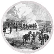 Civil War: 7 Days Battles Round Beach Towel
