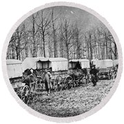 Civil War: Ambulances, C1864 Round Beach Towel