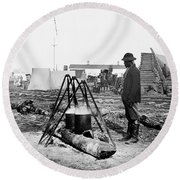 Civil War: Army Cook Round Beach Towel