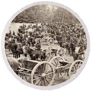 Civil War: Artillery, 1862 Round Beach Towel