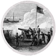 Civil War Battery Round Beach Towel