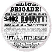 Civil War: Broadside, 1863 Round Beach Towel