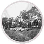 Civil War Burial, 1864 Round Beach Towel