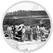 Civil War: Cannon, 1864 Round Beach Towel
