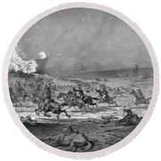 Civil War: Cavalry Charge Round Beach Towel