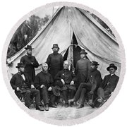 Civil War: Chaplains, 1864 Round Beach Towel