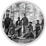 Civil War: Engineers Round Beach Towel